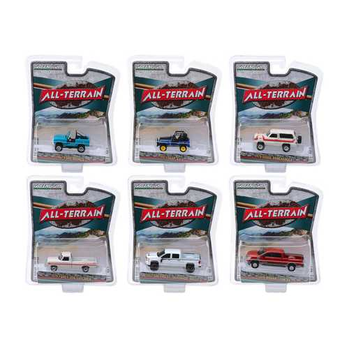 """All Terrain"" Series 8, Set of 6 pieces 1/64 Diecast Model Cars by Greenlight"