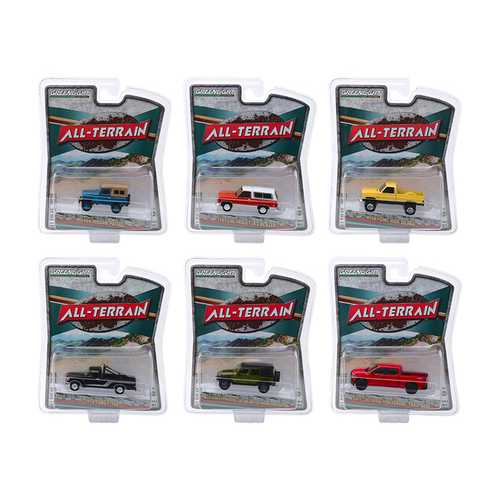 """All Terrain"" Series 9, Set of 6 pieces 1/64 Diecast Model Cars by Greenlight"
