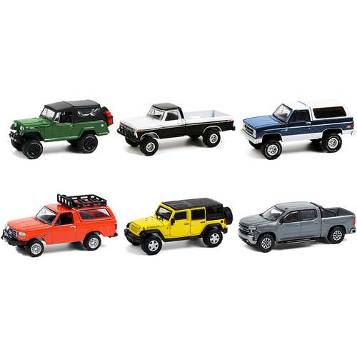 """""""All Terrain"""" Set of 6 pieces Series 11 1/64 Diecast Model Cars by Greenlight"""