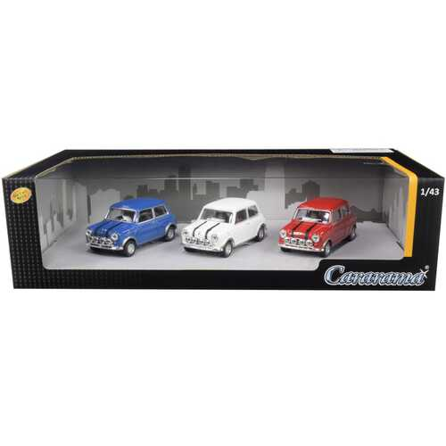 Mini Cooper 3 piece Gift Set 1/43 Diecast Model Cars by Cararama