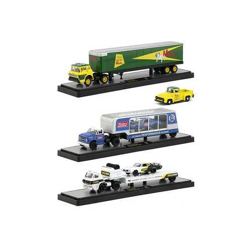 Auto Haulers Release 32, 3 Trucks Set 1/64 Diecast Models by M2 Machines