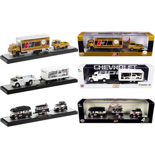 Auto Haulers Set of 3 Trucks Release 41 Limited Edition to 7000 pieces Worldwide 1/64 Diecast Models by M2 Machines