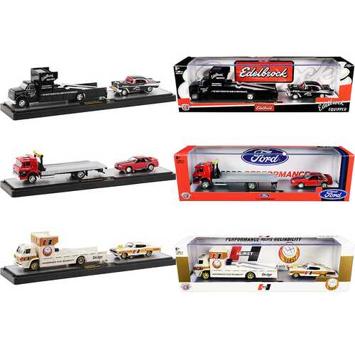 Auto Haulers Set of 3 Trucks Release 42 Limited Edition to 7980 pieces Worldwide 1/64 Diecast Models by M2 Machines