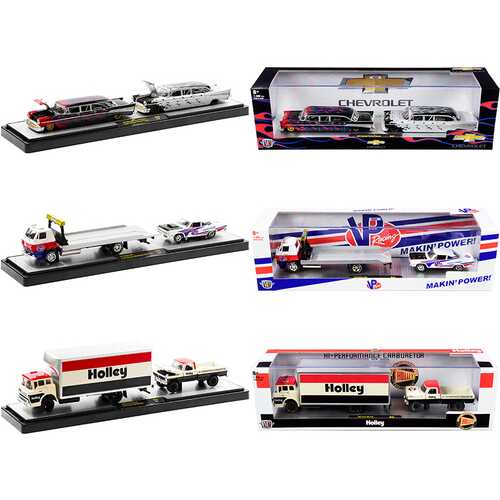 Auto Haulers Set of 3 Trucks Release 43 Limited Edition to 7980 pieces Worldwide 1/64 Diecast Models by M2 Machines