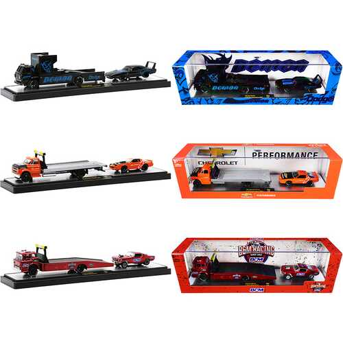 Auto Haulers Set of 3 Trucks Release 44 Limited Edition to 7250 pieces Worldwide 1/64 Diecast Models by M2 Machines