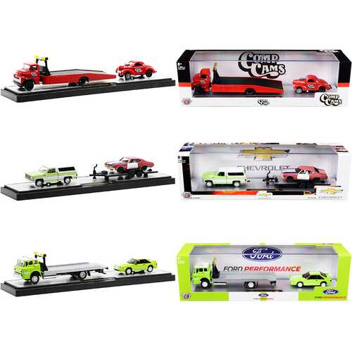 Auto Haulers Set of 3 Trucks Release 45 Limited Edition to 7250 pieces Worldwide 1/64 Diecast Models by M2 Machines
