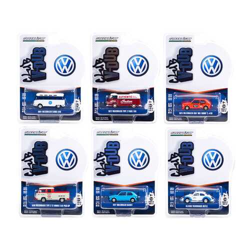 """Club Vee V-Dub"" Set of 6 pieces Series 12 1/64 Diecast Model Cars by Greenlight"
