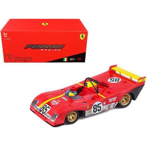 Ferrari 312P #85 Jacky Ickx - Mario Andretti 6 Hours of Watkins Glen (1972) 1/43 Diecast Model Car by Bburago