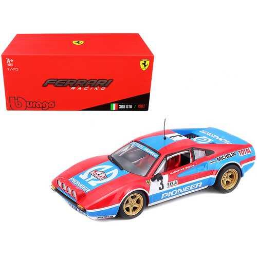 Ferrari 308 GTB #3 J.C. Andruet - Biche Monte Carlo Rally (1982) 1/43 Diecast Model Car by Bburago