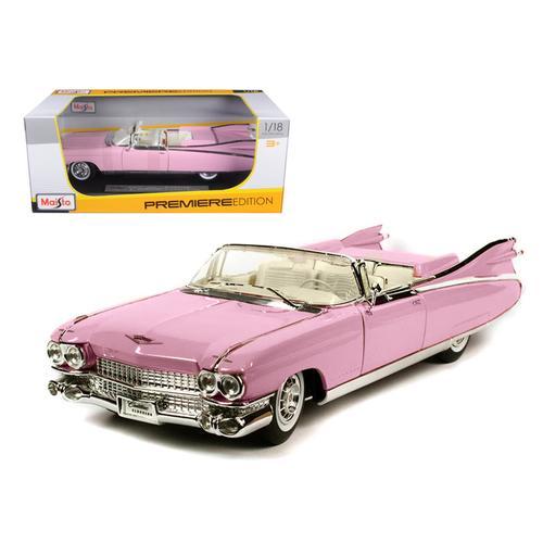 1959 Cadillac Eldorado Biarritz Convertible Pink 1/18 Diecast Model Car by Maisto