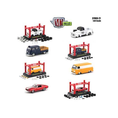 Model Kit 4 pieces Set Release 21 1/64 Diecast Model Cars by M2 Machines