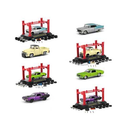Model Kit 4 piece Car Set Release 24 1/64 Diecast Model Cars by M2 Machines