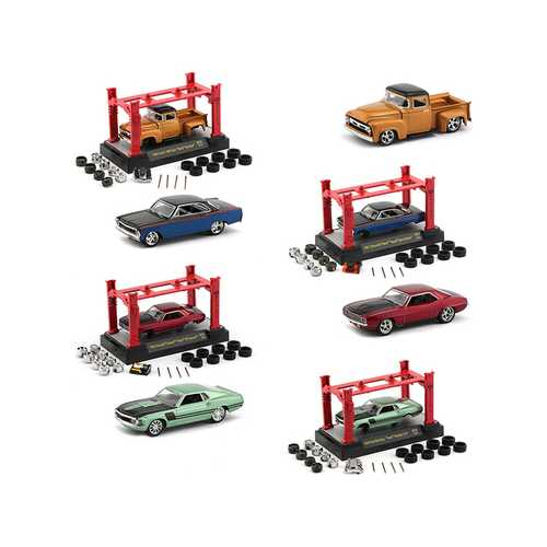 "Model Kit 4 piece Car Set, Release 29 ""Foose"" 1/64 Diecast Model Cars by M2 Machines"