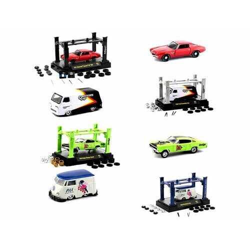 Model Kit 4 piece Car Set Release 33 1/64 Diecast Model Cars by M2 Machines
