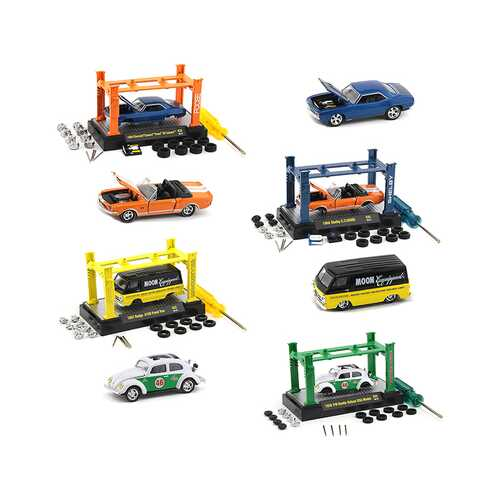 Model Kit 4 piece Car Set Release 35 Limited Edition to 7500 pieces Worldwide 1/64 Diecast Model Cars by M2 Machines