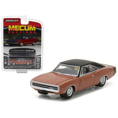 1970 Dodge Charger R/T HEMI Dark Burnt Orange Mecum Auctions Collector Series 1 1/64 Diecast Model Car by Greenlight