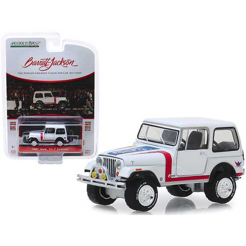 "1981 Jeep CJ-7 Custom White (Lot #3005) Barrett Jackson ""Scottsdale Edition"" Series 4 1/64 Diecast Model Car by Greenlight"