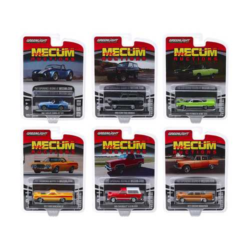 """""""Mecum Auctions Collector Cars"""" Series 4, Set of 6 pieces 1/64 Diecast Model Cars by Greenlight"""