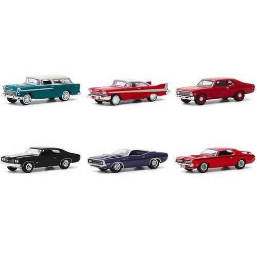 "Barrett Jackson ""Scottsdale Edition"" Set of 6 Cars Series 5 1/64 Diecast Model Cars by Greenlight"
