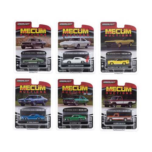 """""""Mecum Auctions Collector Cars"""" Set of 6 pieces Series 5 1/64 Diecast Model Cars by Greenlight"""