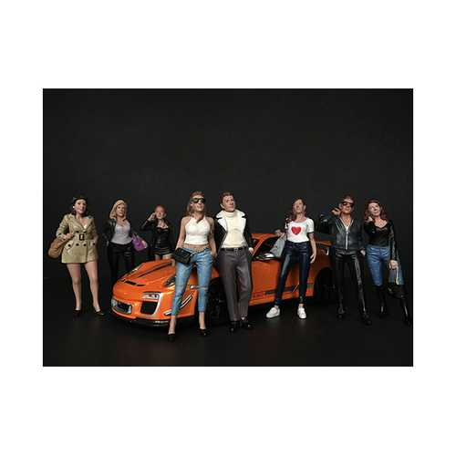 """""""Ladies Night"""" 8 piece Figurine Set for 1/18 Scale Models by American Diorama"""