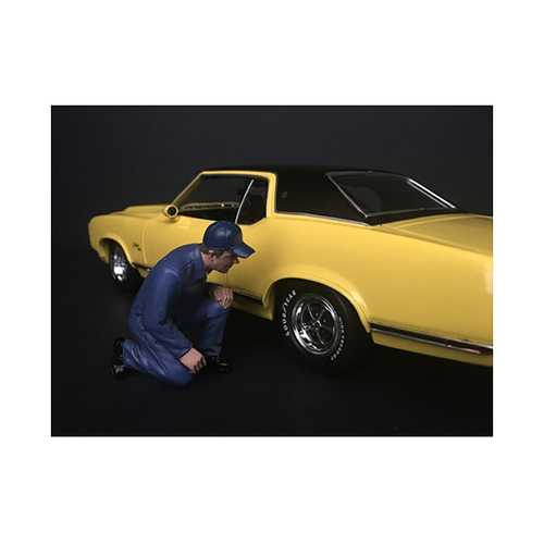 Mechanic Juan with Lug Wrench Figurine for 1/24 Scale Models by American Diorama