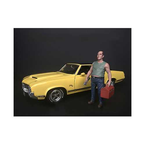 Mechanic Sam with Tool Box Figurine for 1/24 Scale Models by American Diorama
