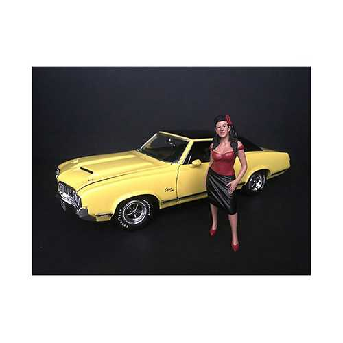 """Hanging Out II"" Rosa Figurine for 1/24 Scale Models by American Diorama"