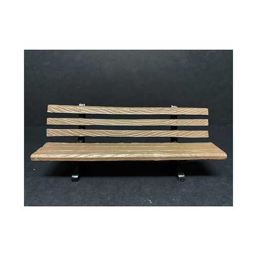 Park Bench 2 piece Accessory Set for 1/18 Scale Models by American Diorama