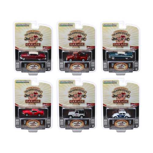 """Busted Knuckle Garage"" Series 1, 6 piece Set 1/64 Diecast Model Cars by Greenlight"
