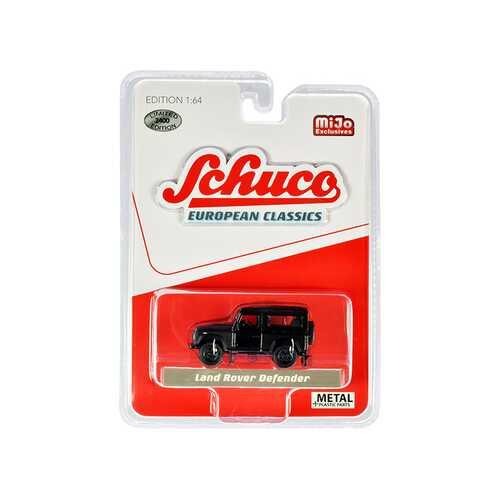 "Land Rover Defender Matt Black ""European Classics"" Limited Edition to 2400 pieces Worldwide 1/64 Diecast Model Car by Schuco"