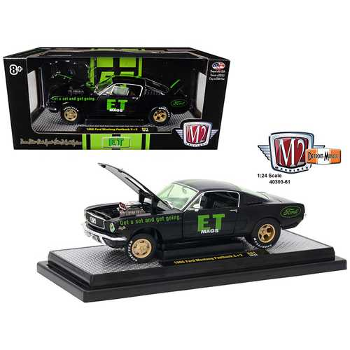 "1966 Ford Mustang 2+2 Fastback ""E.T. Mags"" Black 1/24 Diecast Model Car by M2 Machines"