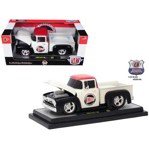 """1956 Ford F-100 Pickup Truck """"Holley"""" Limited Edition to 5,800 pieces Worldwide 1/24 Diecast Model Car by M2 Machines"""