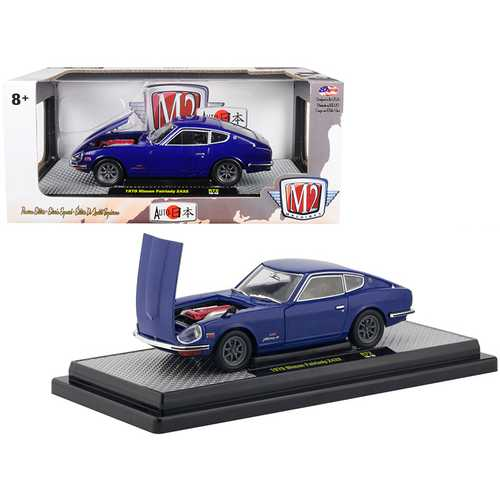 "1970 Nissan Fairlady Z432 Dark Blue ""Auto Japan"" Limited Edition to 5800 pieces Worldwide 1/24 Diecast Model Car by M2 Machines"