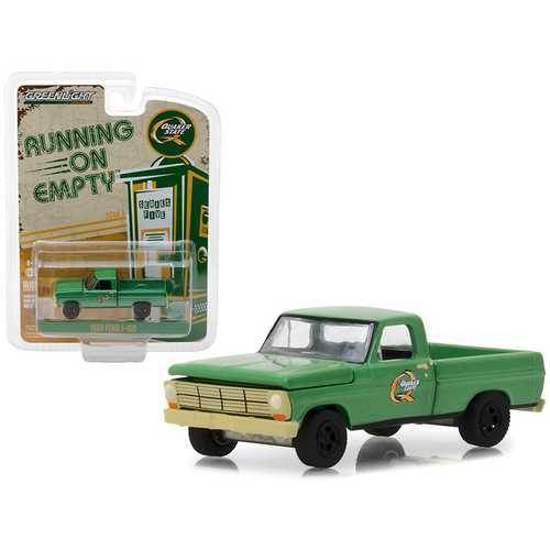 """1969 Ford F-100 Pickup Truck """"Quaker State"""" Green Running on Empty Series 5 1/64 Diecast Model Car by Greenlight"""