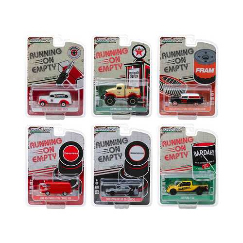 """Running on Empty"" Set of 6 pieces Series 8 1/64 Diecast Model Cars by Greenlight"
