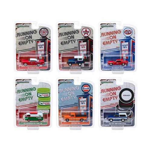 """Running on Empty"" 6 piece Set Series 9 1/64 Diecast Model Cars by Greenlight"