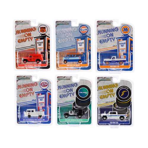 """Running on Empty"" 6 piece Set Series 10 1/64 Diecast Model Cars by Greenlight"