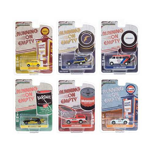 """Running on Empty"" 6 piece Set Series 11 1/64 Diecast Model Cars by Greenlight"