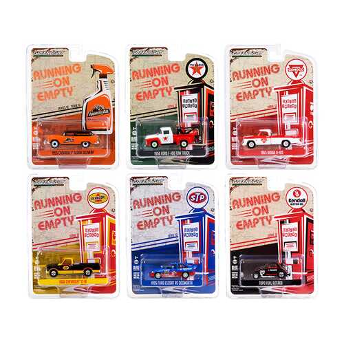 """Running on Empty"" 6 piece Set Series 12 1/64 Diecast Model Cars by Greenlight"