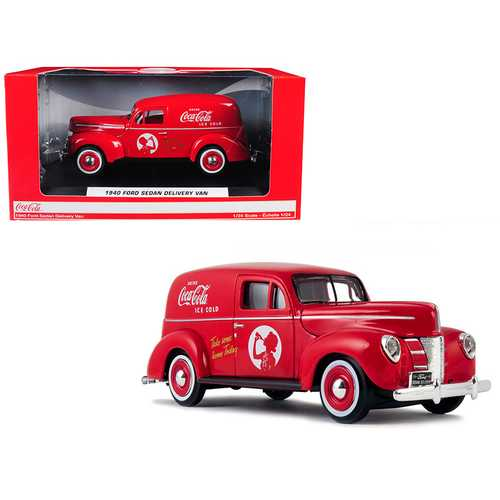 "1940 Ford Sedan Delivery Van ""Coca-Cola"" Red 1/24 Diecast Model Car by Motorcity Classics"