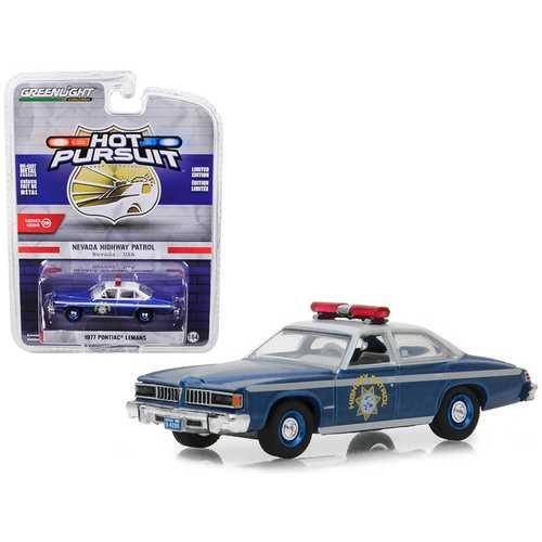 "1977 Pontiac LeMans Nevada Highway Patrol ""Hot Pursuit"" Series 29 1/64 Diecast Model Car by Greenlight"