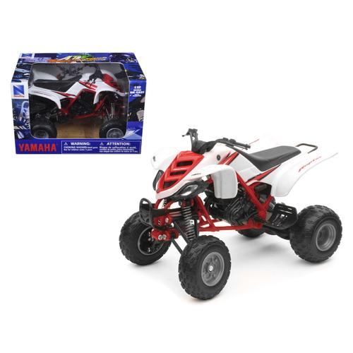 2005 Yamaha 660R Raptor White/Red ATV Motorcycle 1/12 Diecast Model by New Ray