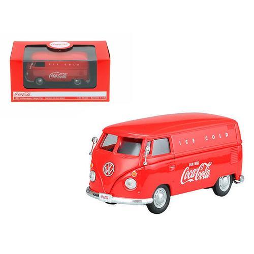 1962 Volkswagen Coca Cola Cargo Van Red 1/43 Diecast Model by Motorcity Classics