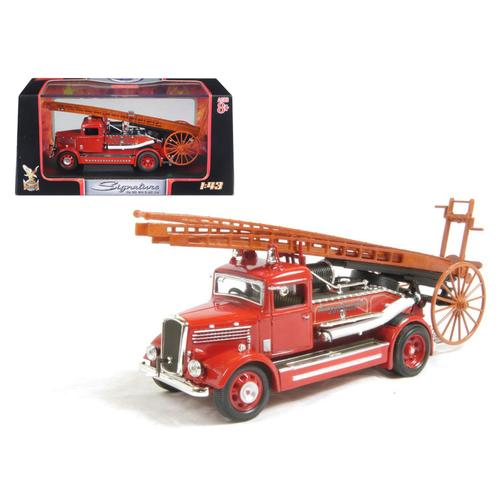 1938 Dennis Light Four Fire Engine Red 1/43 Diecast Model by Road Signature