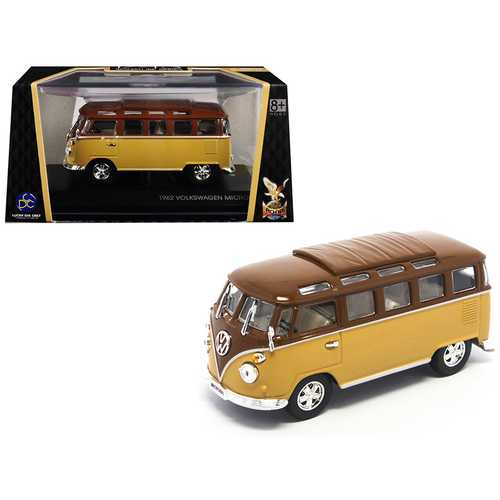 1962 Volkswagen Microbus Van Bus Brown 1/43 Diecast Model by Road Signature