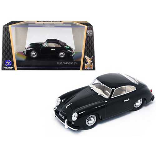 1952 Porsche 356 Coupe Black 1/43 Diecast Model Car by Road Signature