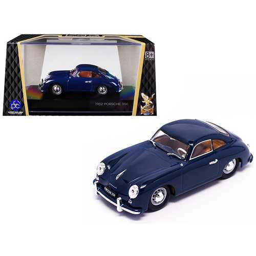 1952 Porsche 356 Coupe Dark Blue 1/43 Diecast Model Car by Road Signature