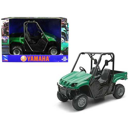 2008 Yamaha Rhino 700 F1 4x4 Off Road ATV Green 1/12 Diecast Model by New Ray