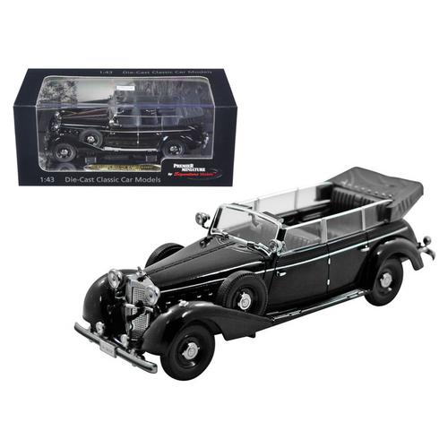 1938 Mercedes 770K Parade Car Black 1/43 Diecast Car Model by Signature Models